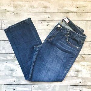 CABI The Straight Dark Wash Straight Leg Jeans